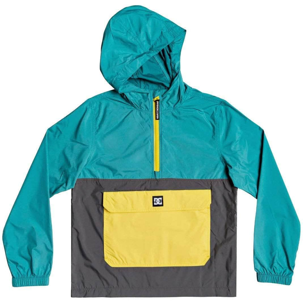 DC Boys Sedgefield Packable Half Zip Anorak Jacket - Teal