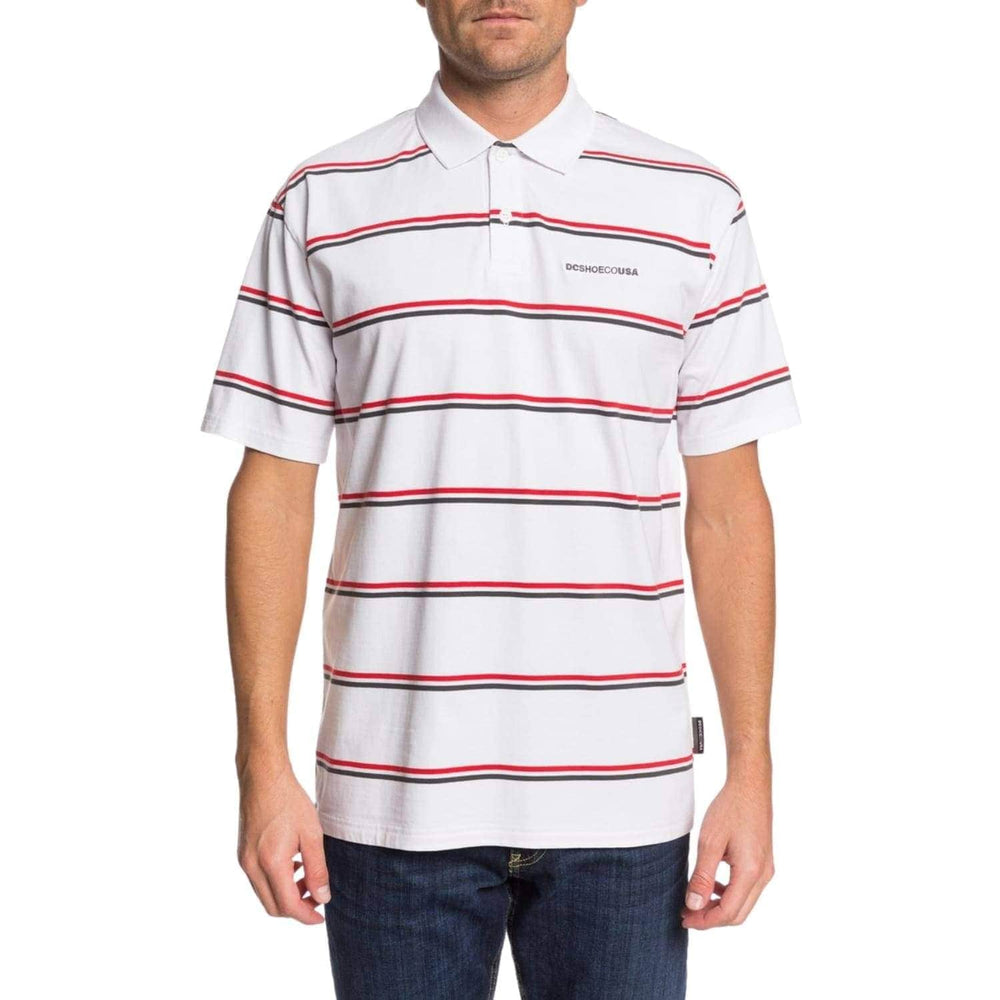 DC Corning Short Sleeve Polo Shirt White - Mens Polo Shirt by DC