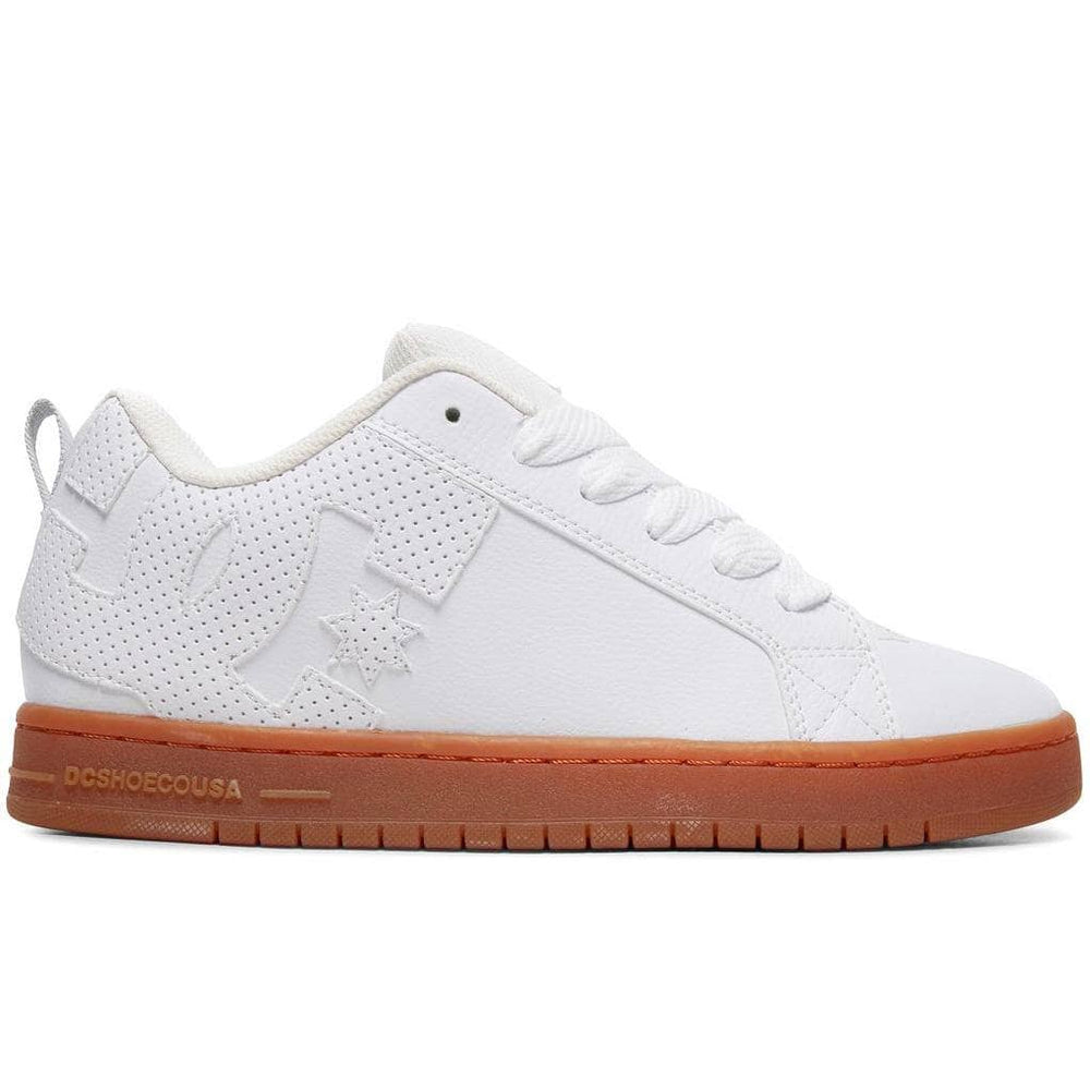 DC Court Graffik Shoes White Mens Skate Shoes by DC