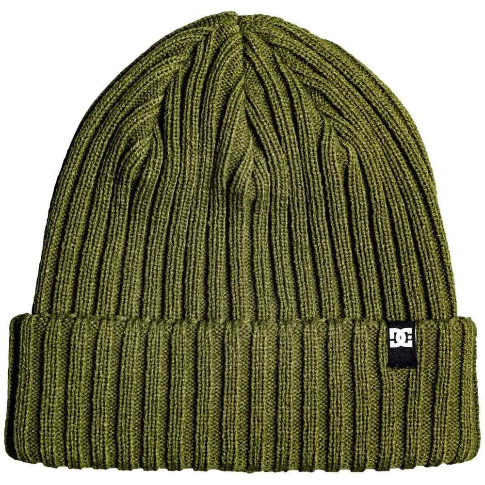 DC Fish N Destroy Beanie Fatigue Green O/S (one size) Fold Beanie Hat by DC