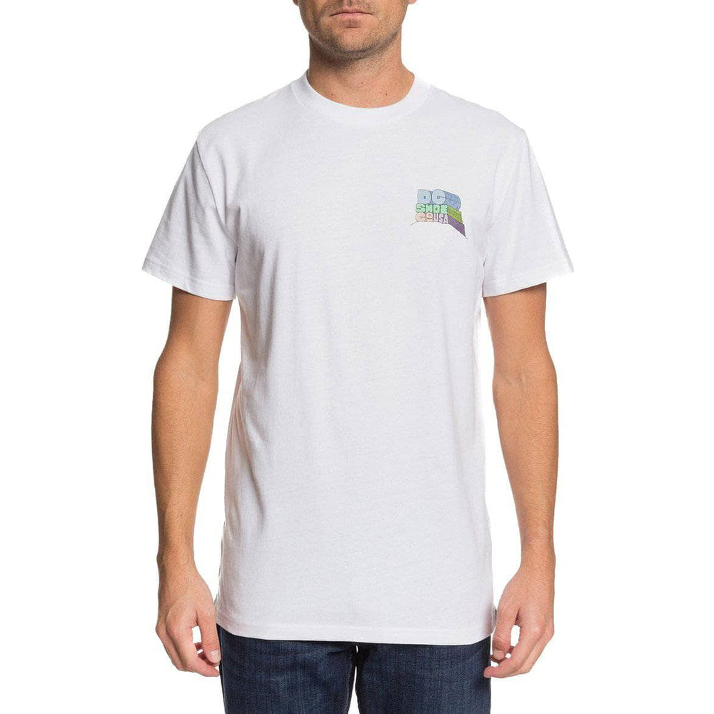 DC Hilltop T-Shirt White Mens Graphic T-Shirt by DC