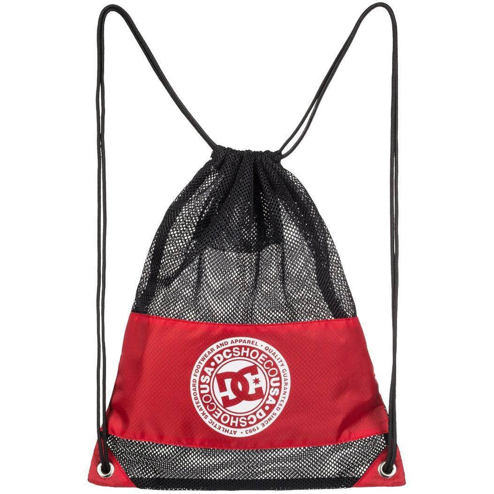 DC Jim Cincher Drawstring Bag - Racing Red Backpack/Rucksack Bag by DC