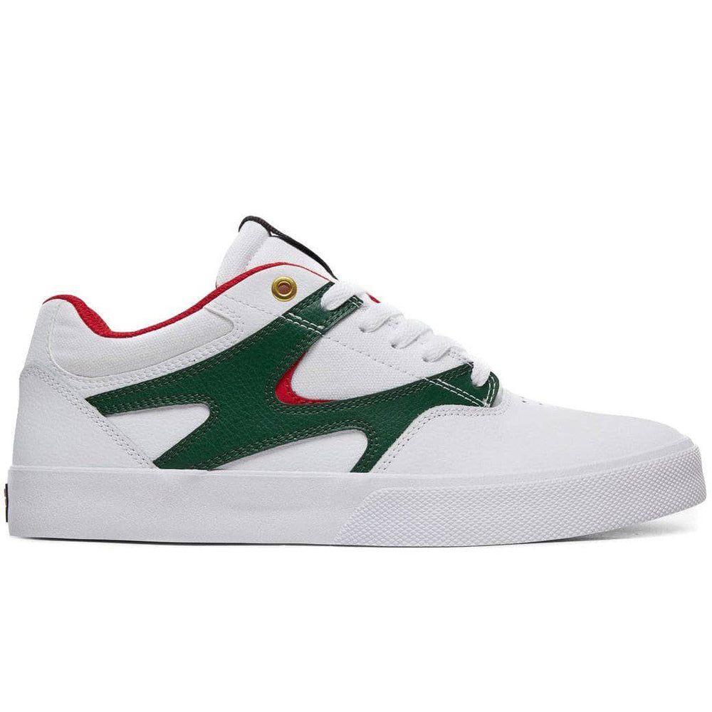DC Kalis Vulc Skate Shoes - White/Red