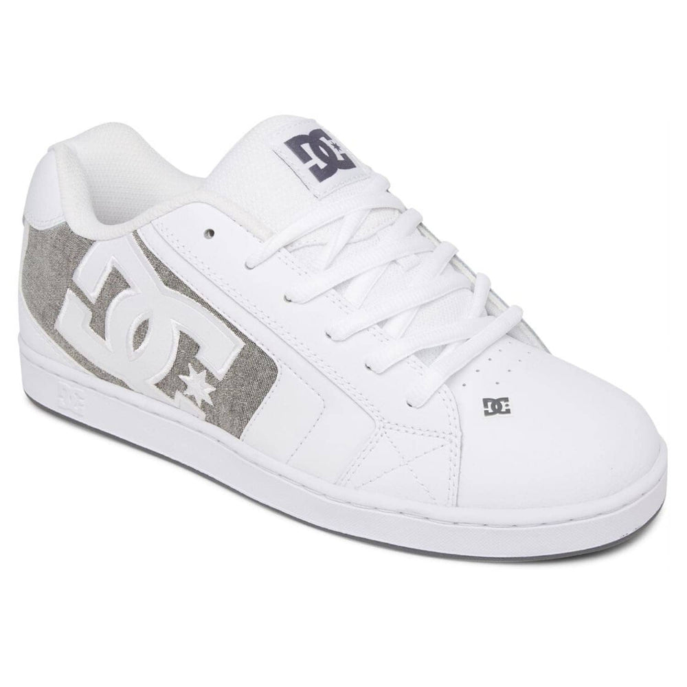 DC Net Skate Shoes - White/Armor White