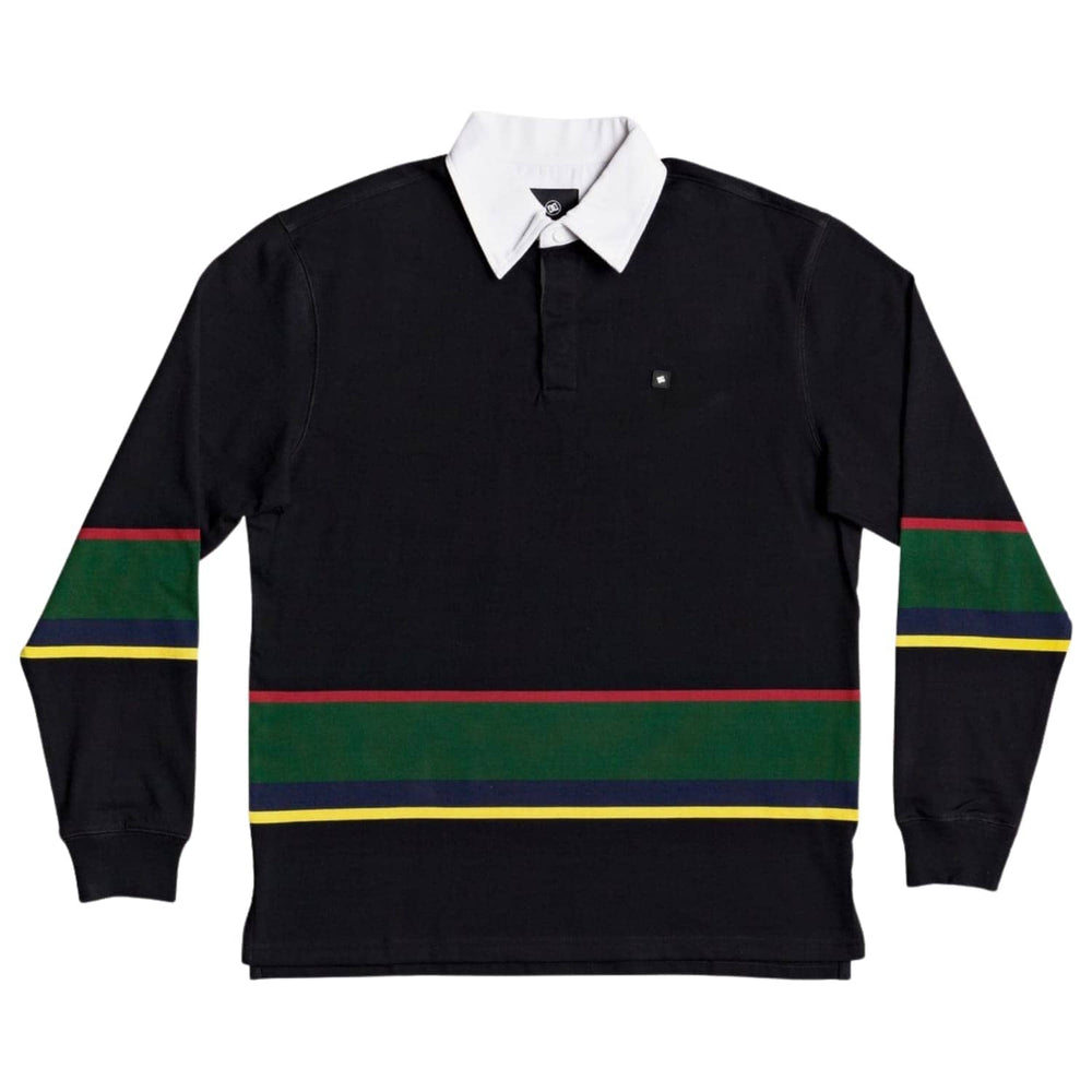 DC Wales L/S Rugby Shirt Black - Mens Flannel Shirt by DC