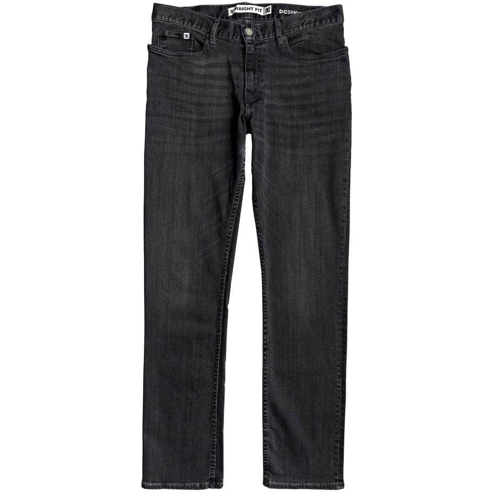 DC Worker Straight Denim Jeans - Medium Grey