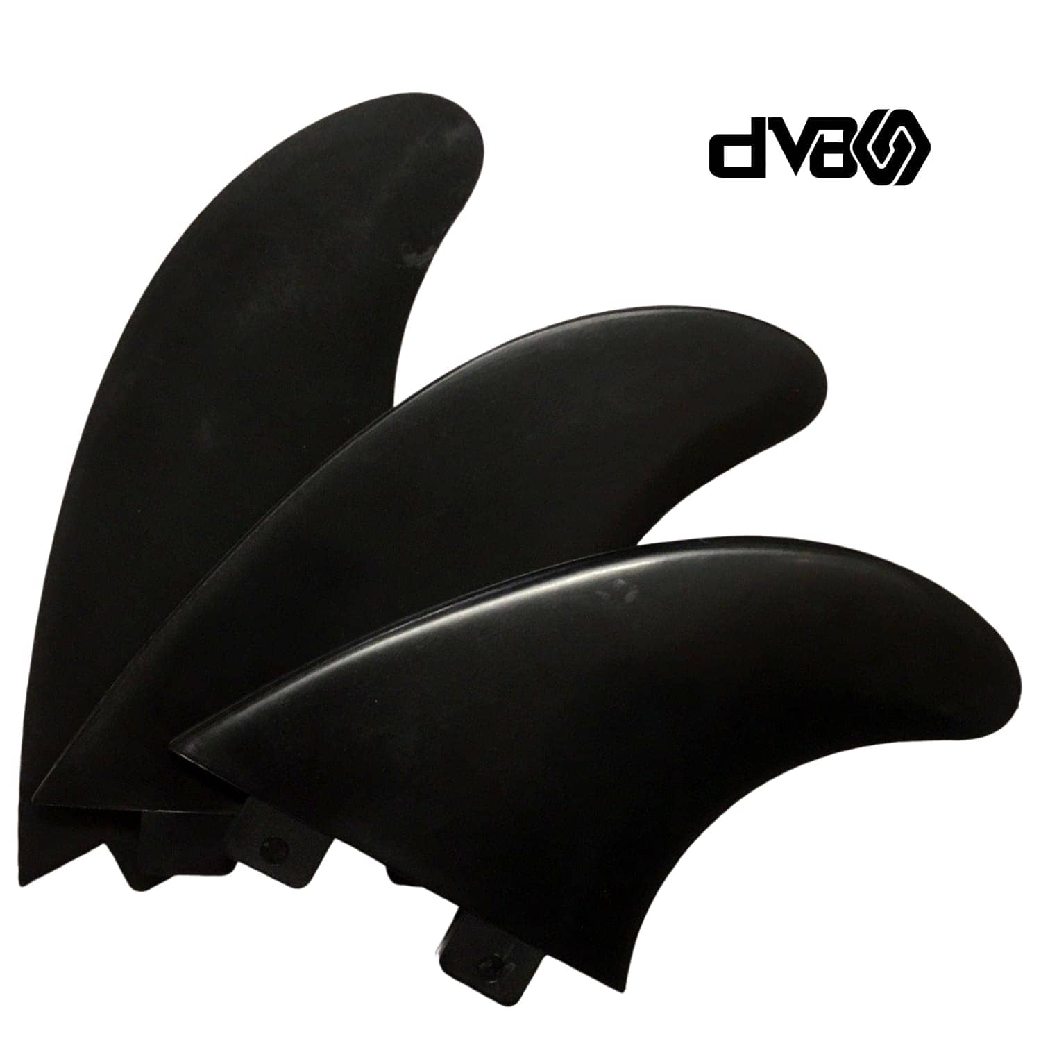 DV8 Basic Thruster Surfboard Fins Size 5 Black (FA19)
