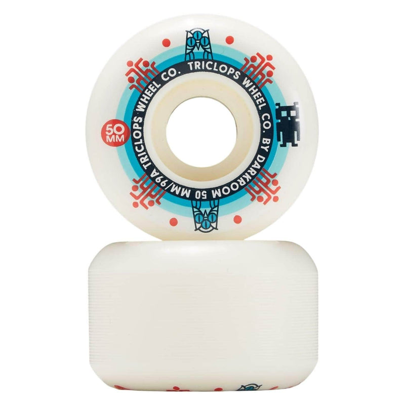 darkroom-triclops-segment-skateboard-wheels-white-50mm