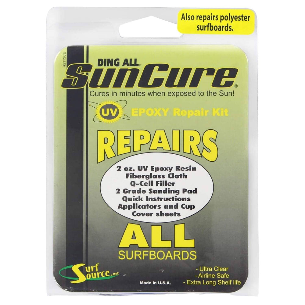Ding All Sun Cure Repairs All Surfboards Kit