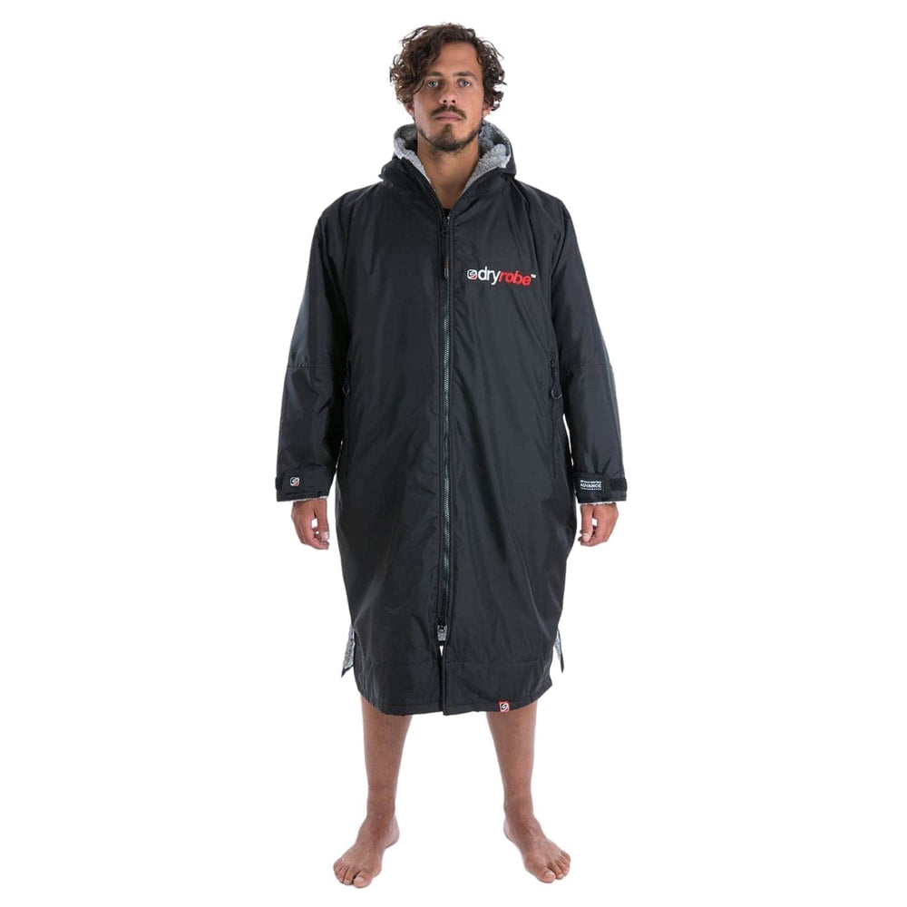 DryRobe Advance Long Sleeve Drying & Changing Robe - Black/Grey