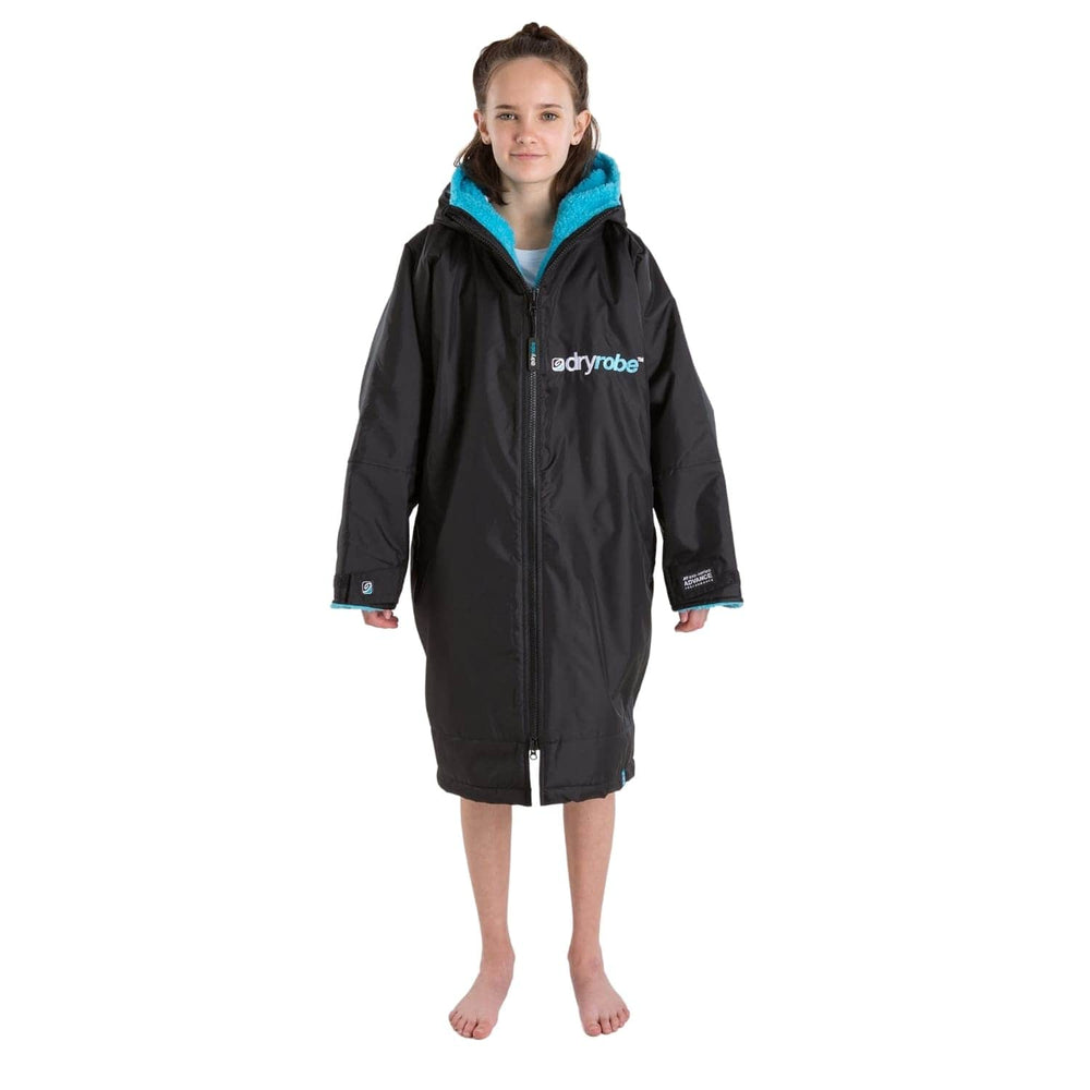 DryRobe Kids Advance Long Sleeve Drying & Changing Robe - Black/Blue