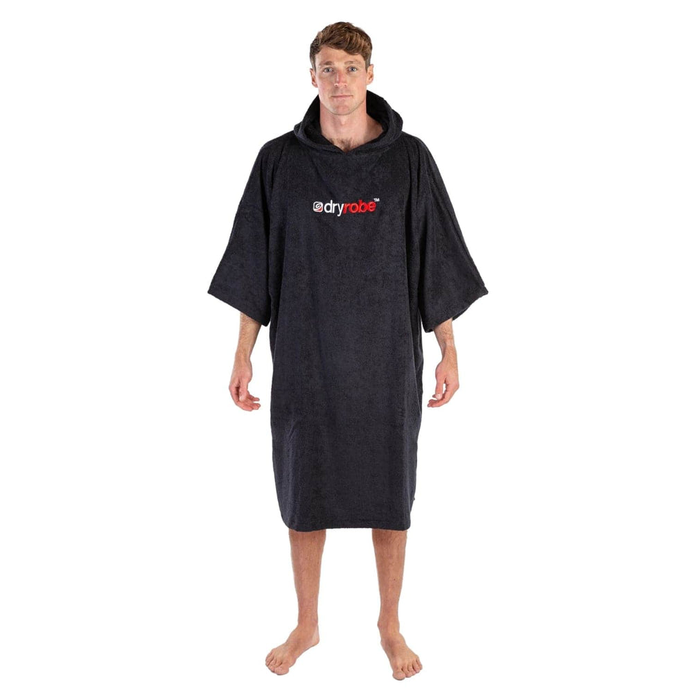 DryRobe Organic Cotton Short Sleeve Towel Dryrobe - Black