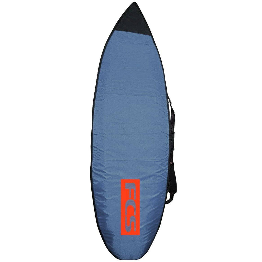 FCS 67 Classic Fun Board Cover Surfboard Bag - Steel Blue/White Surfboard Day Runner Bag/Cover by FCS 6ft 7in