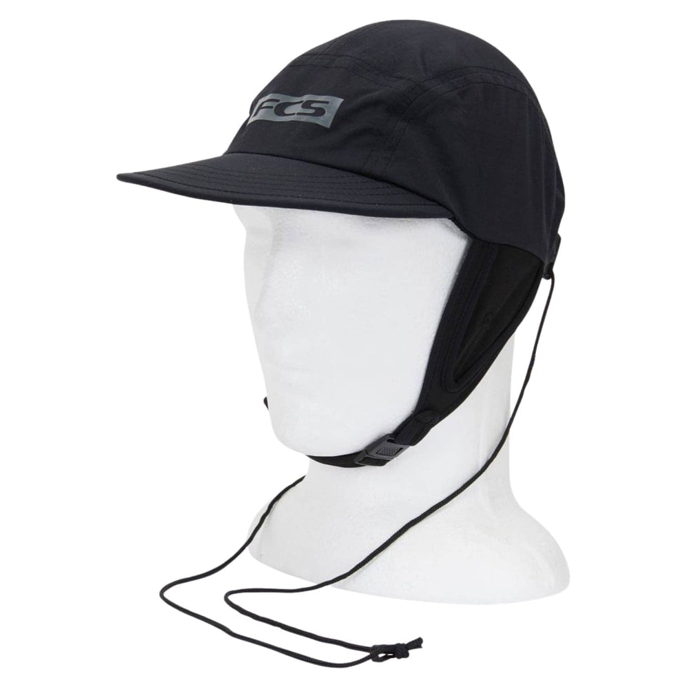 FCS Essential Surf Cap Hat Black - Surfing Hat by FCS