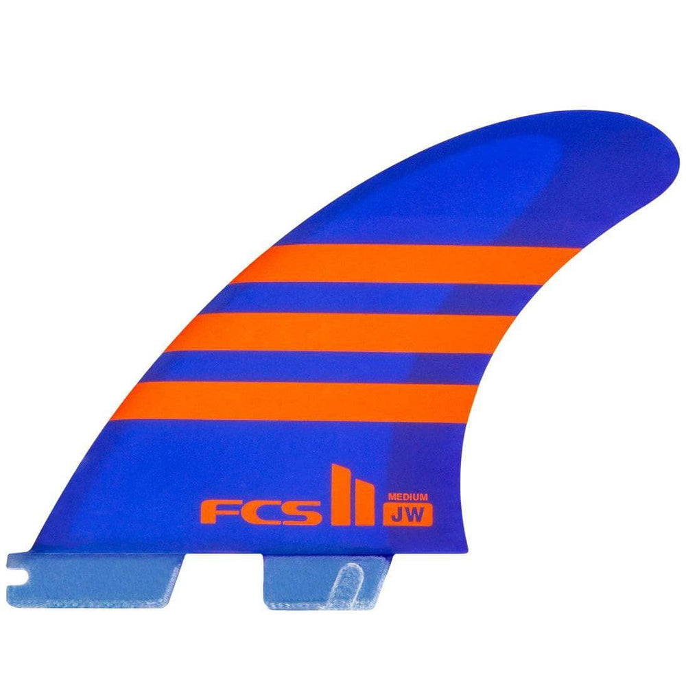 FCS II JW Julian Wilson PC AirCore Surfboard Fins - Medium - Blue/Orange - Medium Fins FCS II Fins by FCS