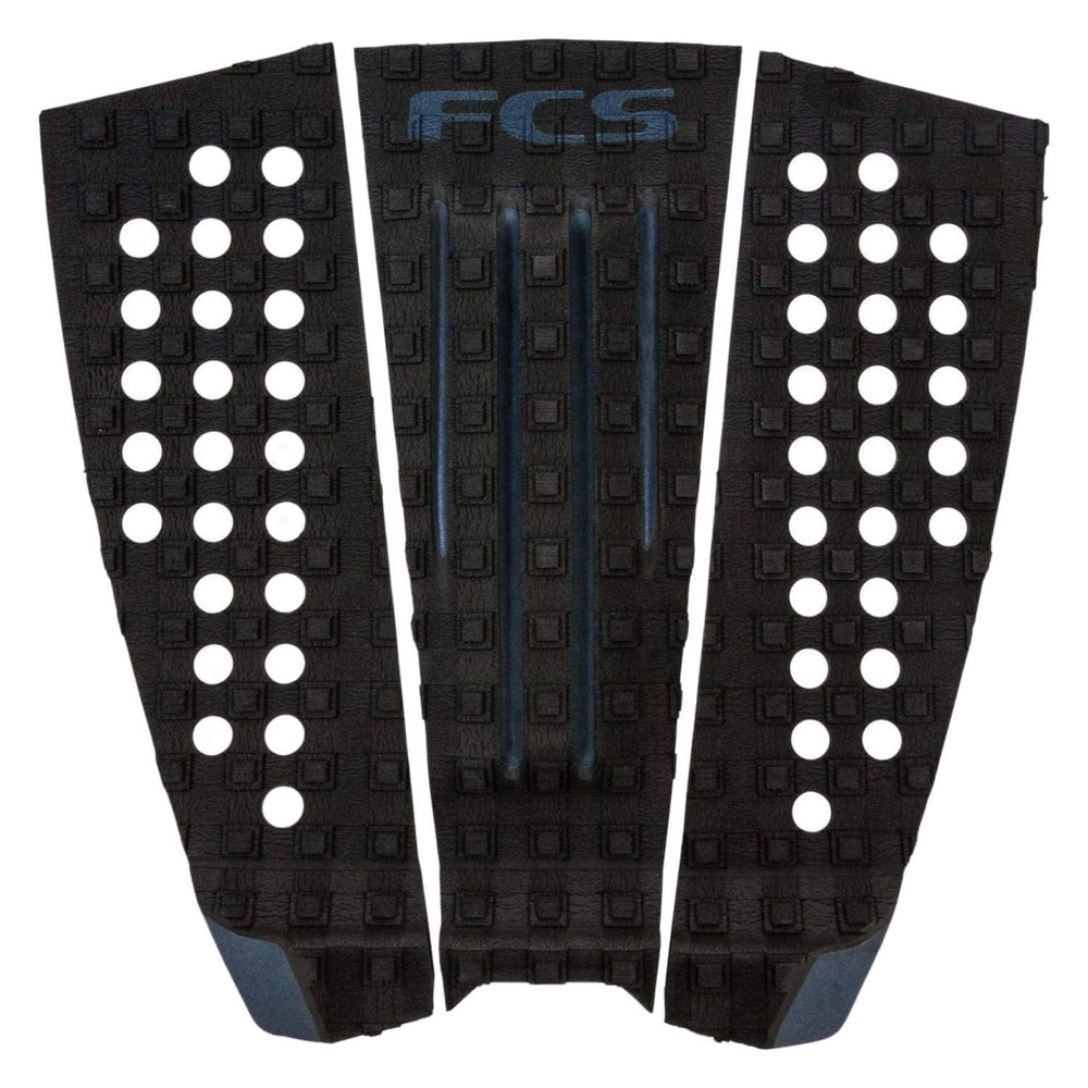 FCS Julian Wilson Tail Pad Surfboard Grip Black Charcoal - 3 Piece Tail Pad by FCS O/S (one size)