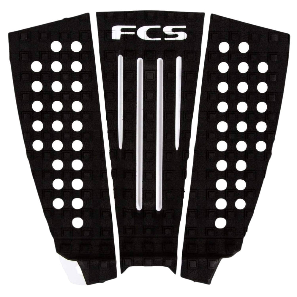 FCS Julian Wilson Tail Pad Surfboard Grip Black White - 3 Piece Tail Pad by FCS One Size