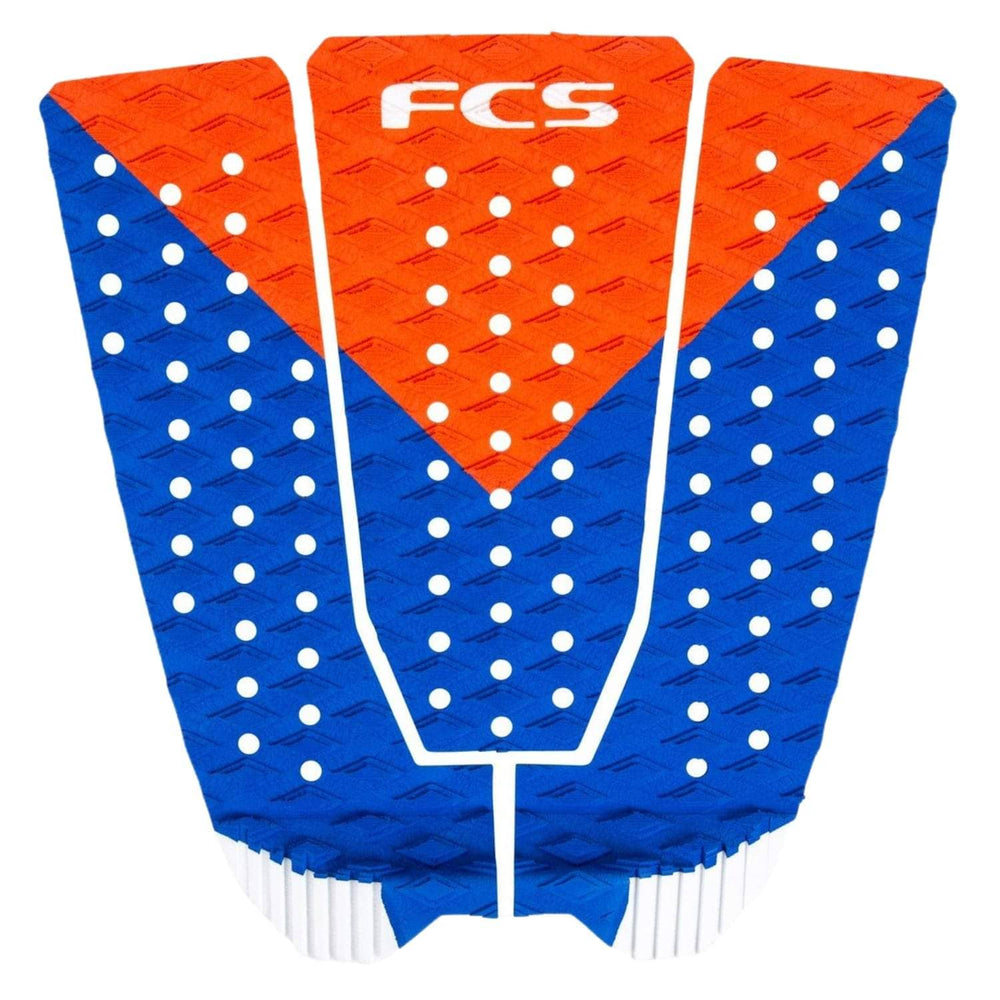FCS Kolohe Red White n Blue Pro Surfboard Tail Pad Red White Blue N/A - 3 Piece Tail Pad by FCS