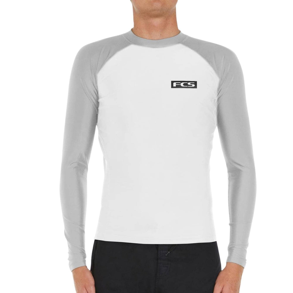 FCS Mens Essential L/S Rashvest White - Mens Rash Vest by FCS