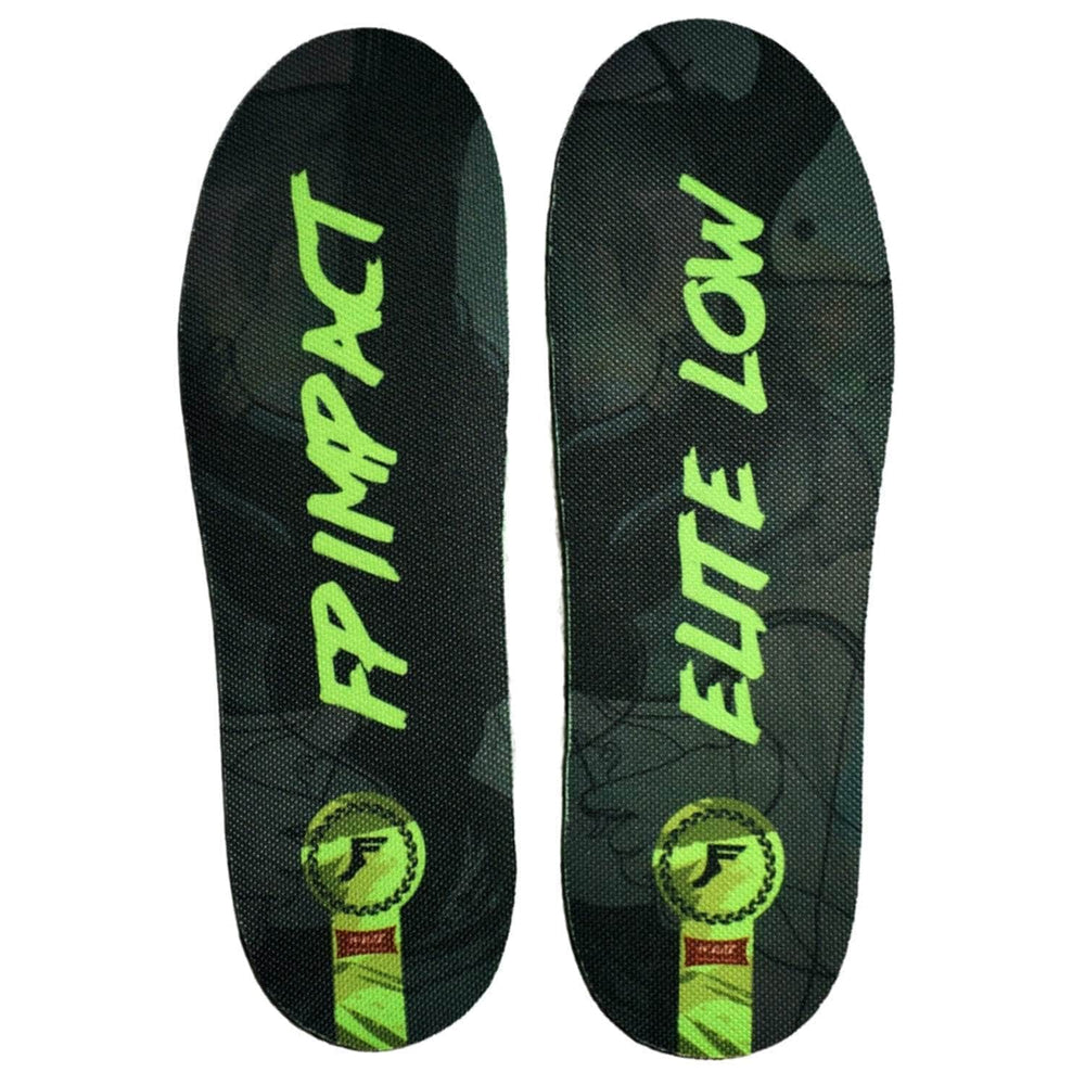 Footprint Kingfoam Kingfoam Elite Low Profile Insoles Black/Green - Orthotic Insoles by Footprint Kingfoam