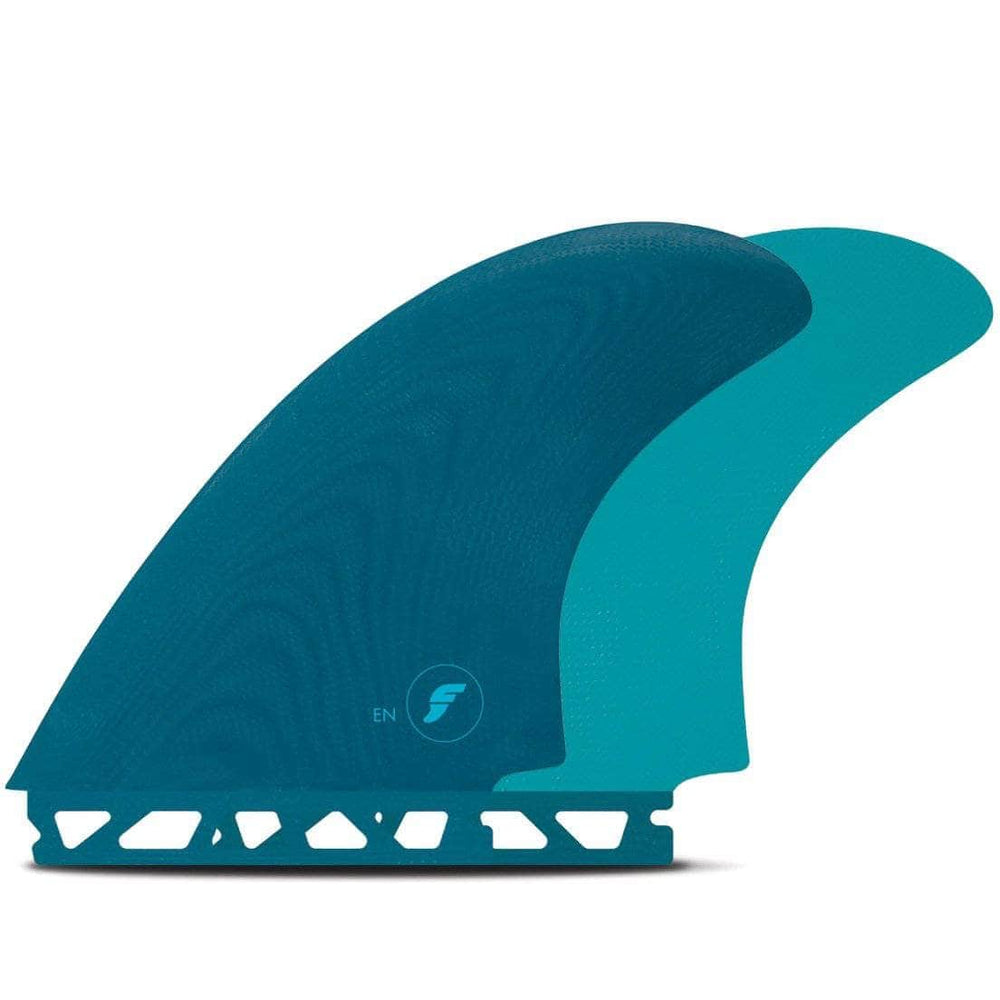 Futures EN Twin Surfboard Fins - Teal Futures Single Tab Fins by Futures