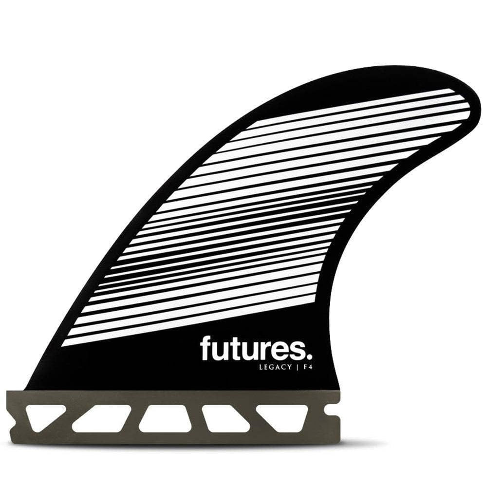Futures F4 Legacy Surfboard Fins - Grey/Black Futures Single Tab Fins by Futures Small Fins