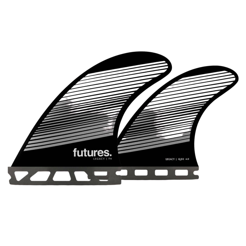 Futures F6 Legacy Quad Honeycomb Surfboard Fins Gray/Black - Futures Single Tab Fins by Futures Medium Fins