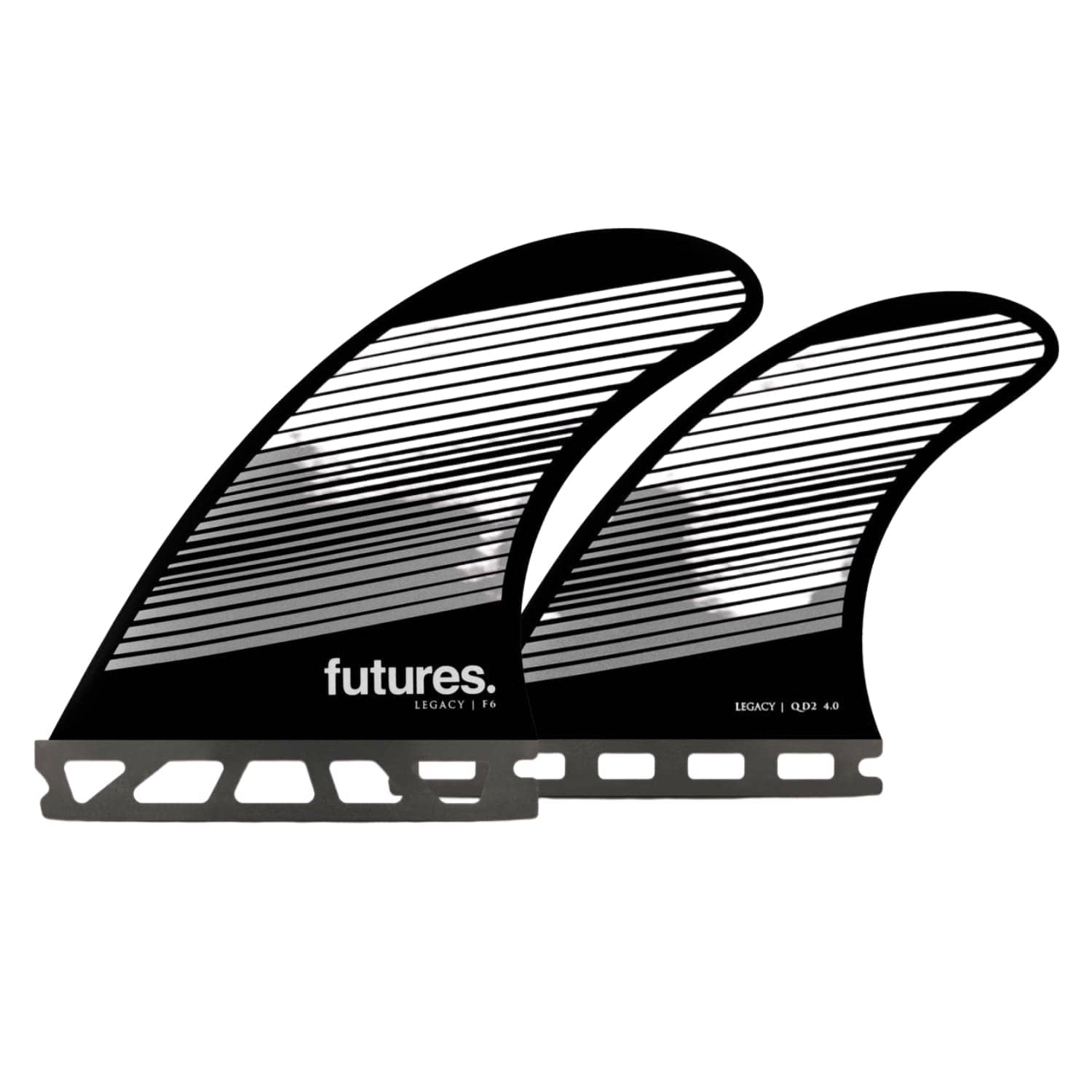 Futures F6 Legacy Quad Honeycomb Surfboard Fins Gray/Black