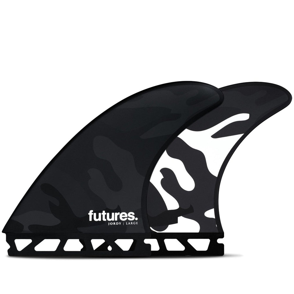 Futures Jordy Smith Honeycomb Thruster Surfboard Fins - Black/White Camo
