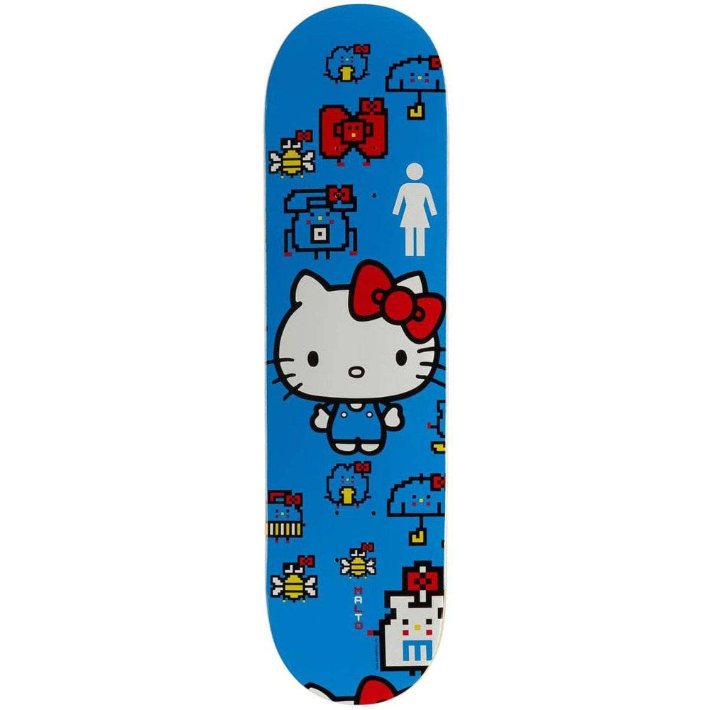 Girl Hello Kitty 45th Anniversary Sean Malto Skate Deck - Blue - 8.0in