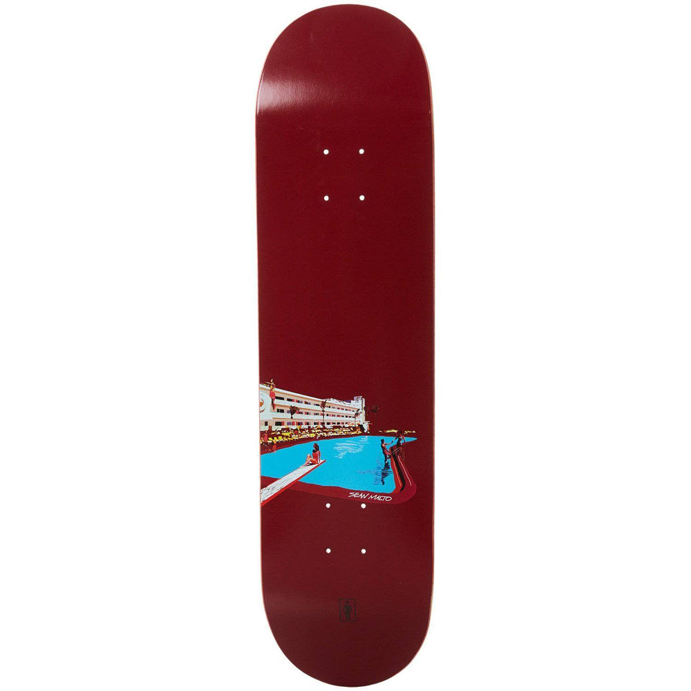 Girl No Vacancy Sean Malto Skate Deck - Black - 8.25in