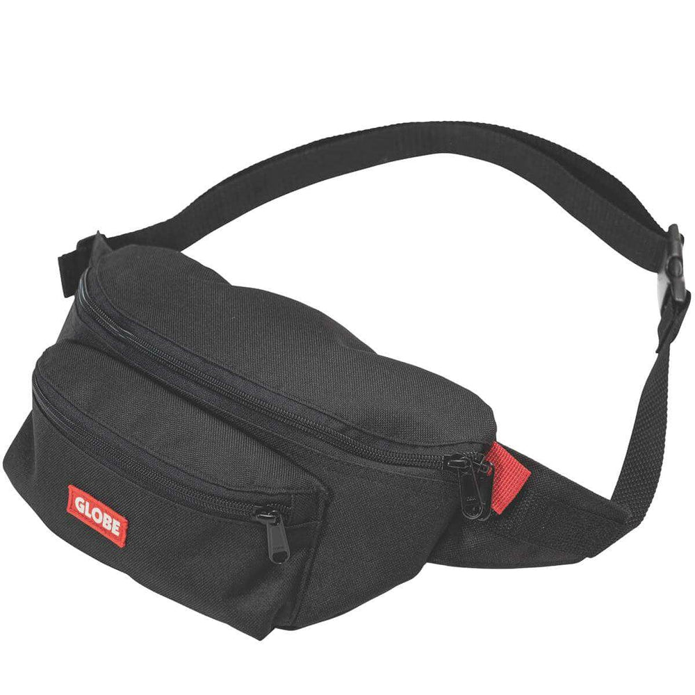 Globe Bar Waist Pack Bum Bag Black O/S (one size) Bum Bag by Globe