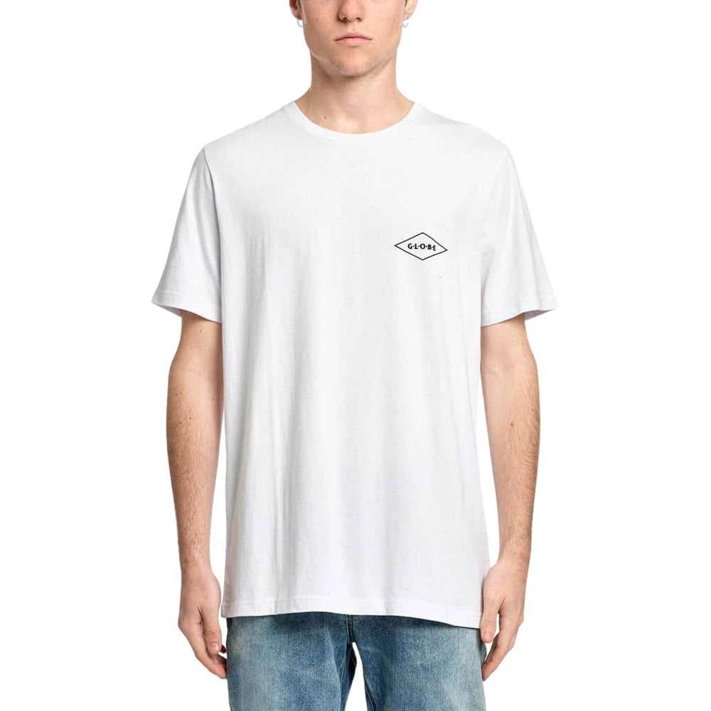Globe Check Out T-Shirt White - Mens Graphic T-Shirt by Globe