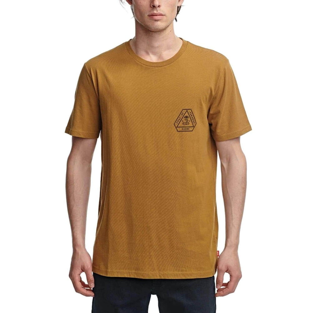 Globe Edge Of Paradise T-Shirt Pecan - Mens Graphic T-Shirt by Globe