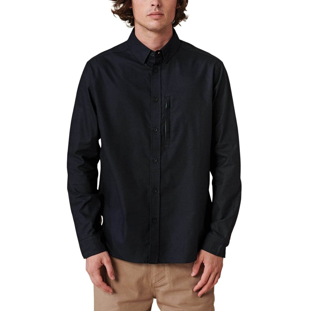 Globe Foundation L/S Shirt - Black - Mens Flannel Shirt by Globe