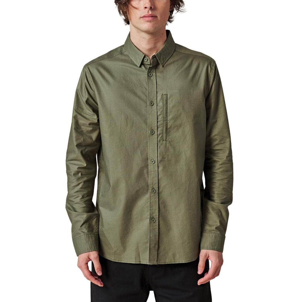 Globe Foundation L/S Shirt - Olive - Mens Flannel Shirt by Globe