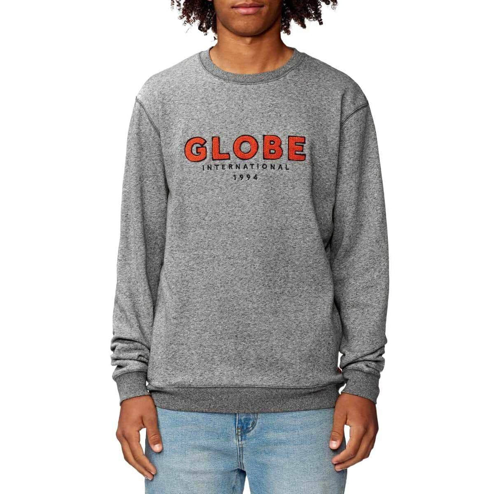 Globe Mod V Crew Grey Marle Mens Crew Neck Sweatshirt by Globe