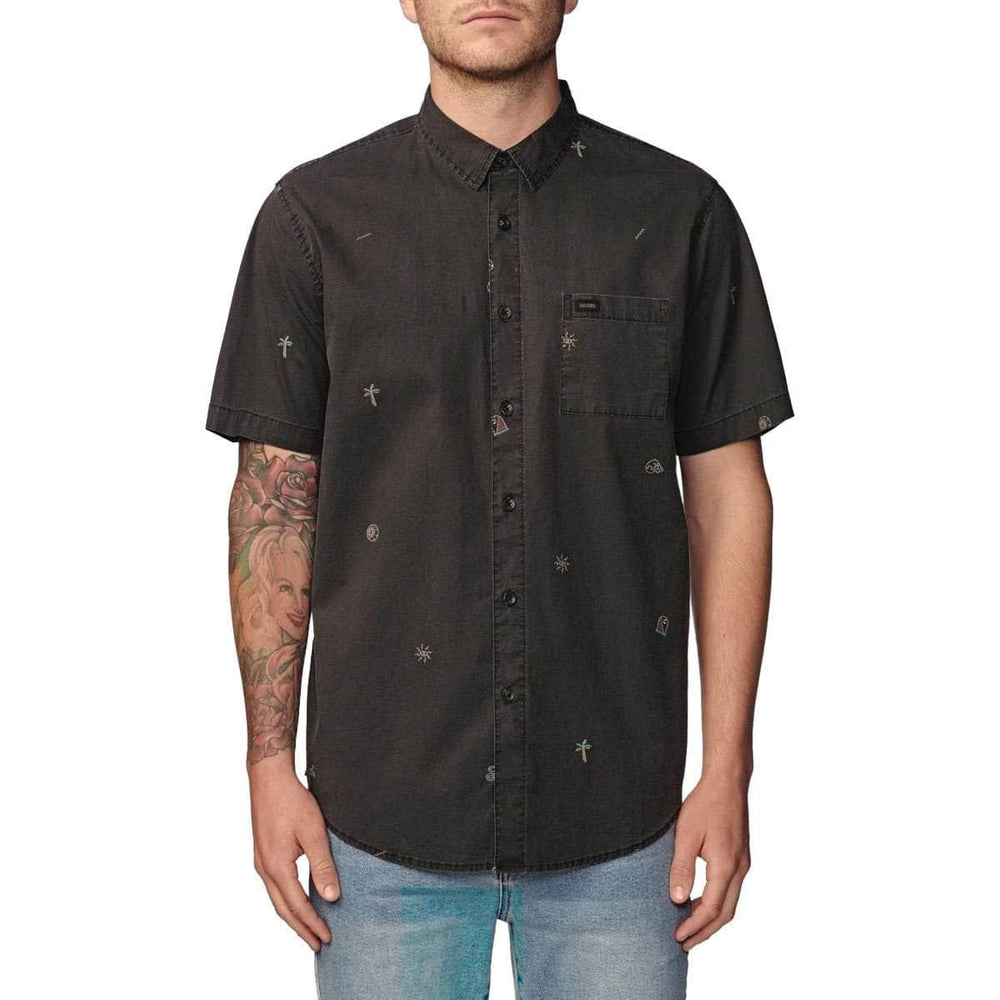 Globe Neon Dreams S/S Shirt - Washed Black