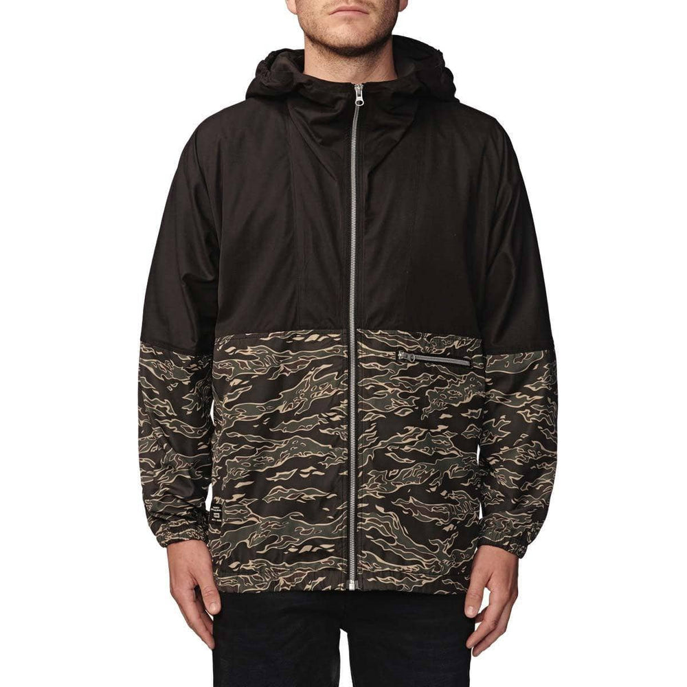 Globe Radar Shell jacket Tiger Camo Mens Windbreaker/Rain Jacket by Globe