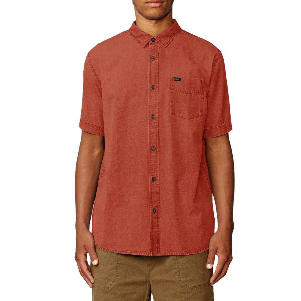 Globe Tidal S/S Shirt - Brick Red