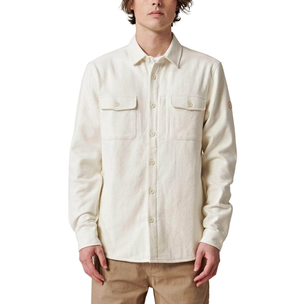 Globe Wanderer Shacket Shirt Jacket Bleach Free Dye Free - Mens Casual Shirt by Globe