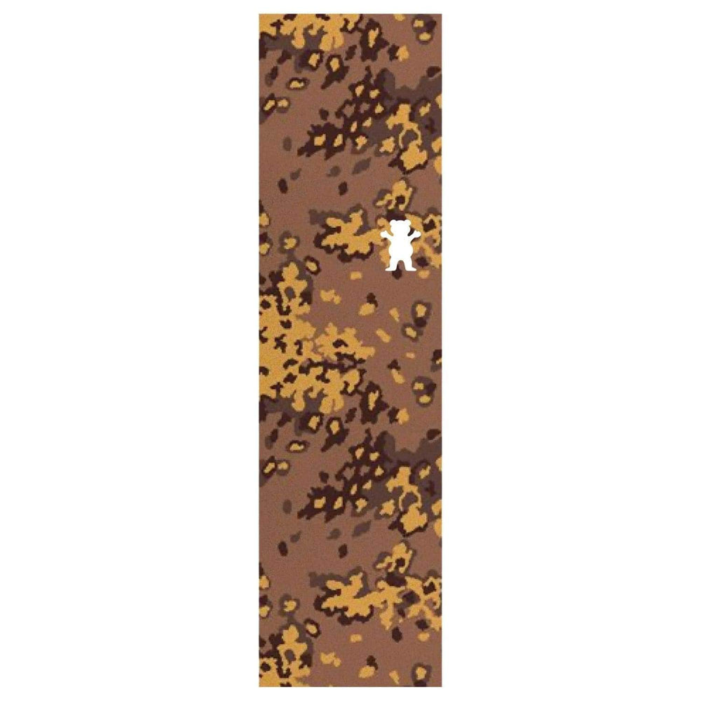 Grizzly Camo Bear Cutout Griptape Tan 9in - Skateboard Grip Tape by Grizzly
