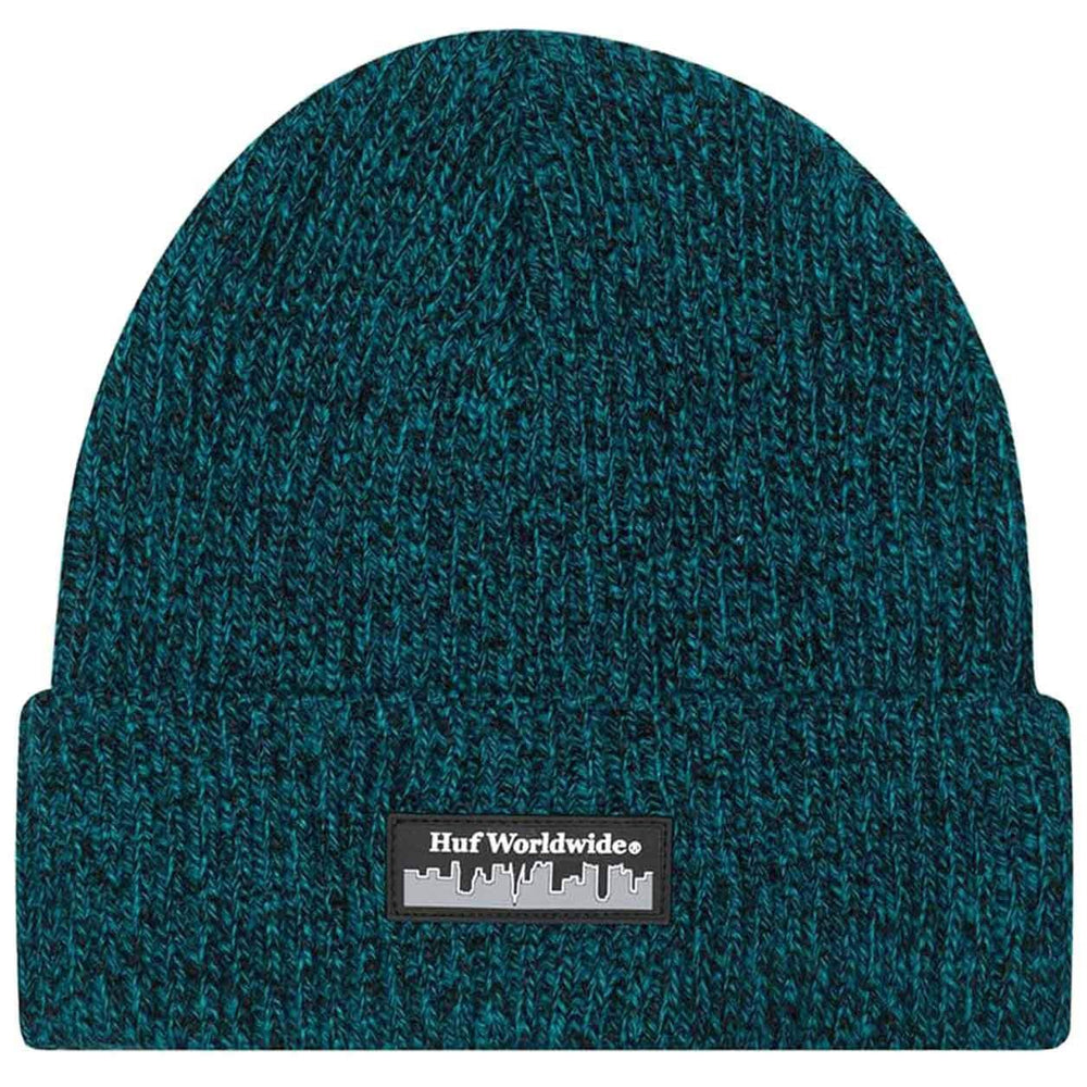 Huf Boroughs Beanie Hat Quetzal Green O/S (one size) Fold Beanie Hat by Huf