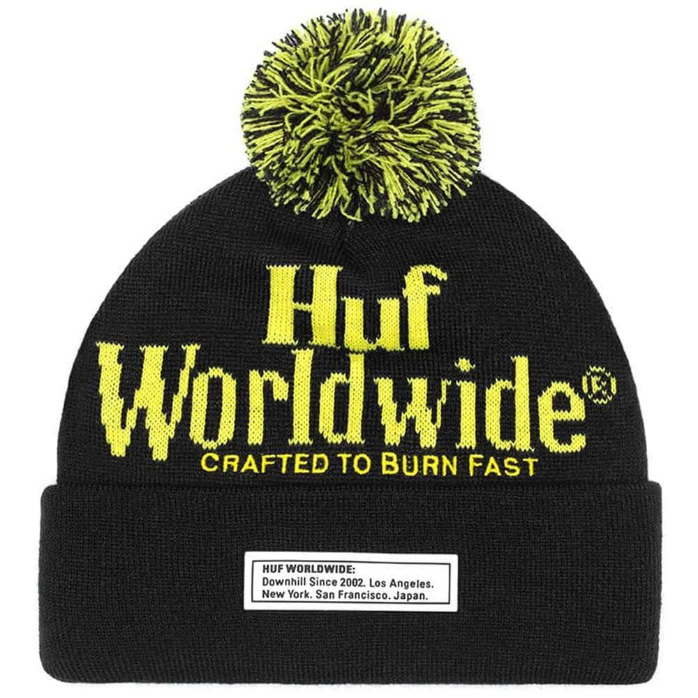 Huf Burn fast Beanie Black O/S (one size)