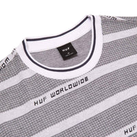 Huf Enzo Striped S/S Knit Black - Mens Plain T-Shirt by Huf
