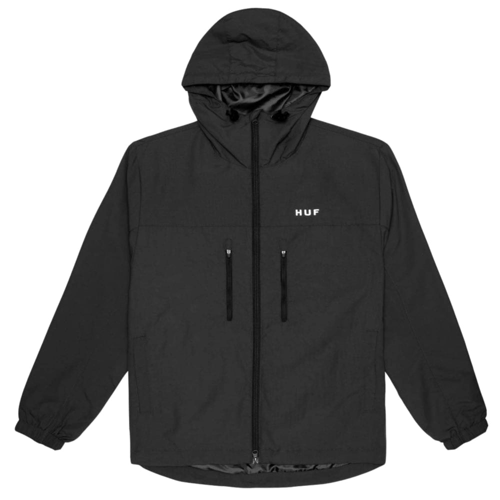 Huf Essentials Standard Shell Zip Jacket - Black