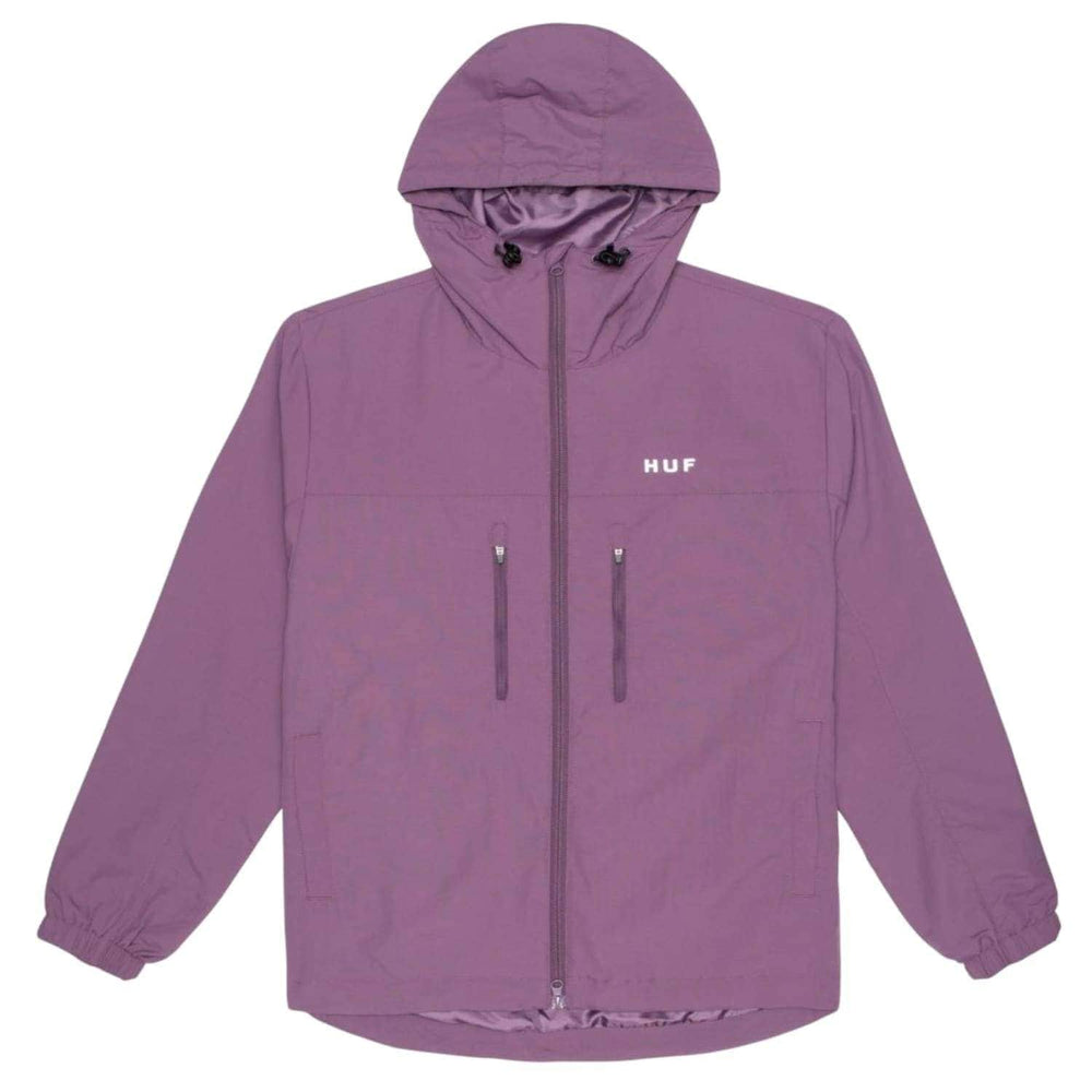 Huf Essentials Standard Shell Zip Jacket Vintage Violet - Mens Windbreaker/Rain Jacket by Huf