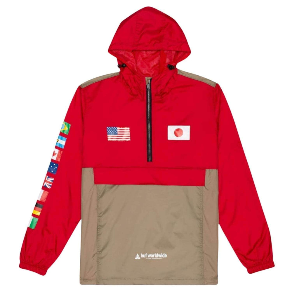 Huf Flags Anorak Jacket - Cyber Red