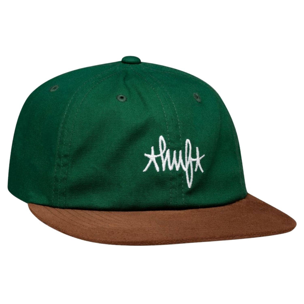 Huf Haze Contrast 6 Panel Cap Forest One Size - Strapback Cap by Huf