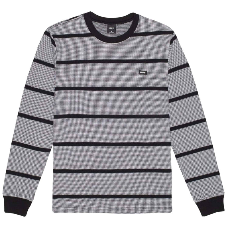 huf-houndstooth-stripe-ls-knit-black